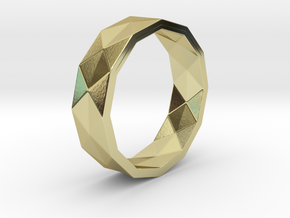 Triangle folding ring (Size9) in 18k Gold Plated Brass