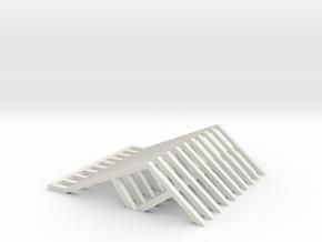 Cliff Hanger Light Structures in White Natural Versatile Plastic