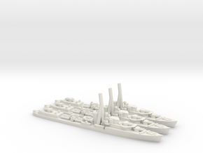 British J/K/N-Class Destroyer in White Natural Versatile Plastic: 1:1800