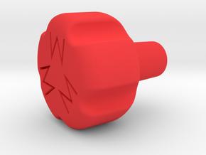 """1.45"""" 1/4-28 MIXTURE KNOB in Red Processed Versatile Plastic"""
