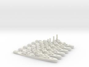 British River-Class Frigate (x6) in White Natural Versatile Plastic