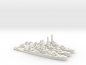 Canadian River-Class Frigate in White Natural Versatile Plastic: 1:1800