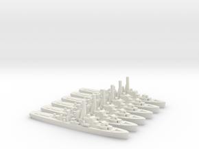 Canadian Prestonian-Class Frigate (x6) in White Natural Versatile Plastic