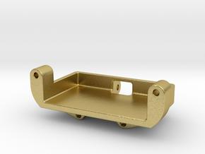 SCX24 Deadbolt Metal gear Servo mount for Emax ES in Natural Brass