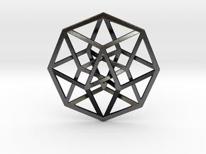 "Tesseract Pendant 1"" in Matte Black Steel"
