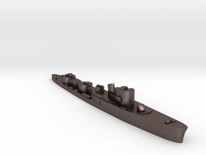 Italian Tifone torpedo boat 1:2400 WW2 in Polished Bronzed-Silver Steel