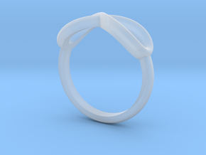 Simple infinity ring  in Smooth Fine Detail Plastic