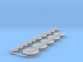 Commission 97 hangman's noose icons in Smooth Fine Detail Plastic