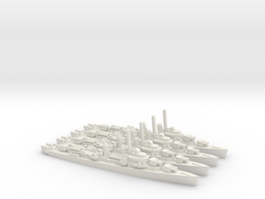 US Allen M. Sumner-Class Destroyer (x4) in White Natural Versatile Plastic