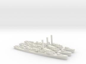 US John C. Butler-Class Destroyer Escort (x3) in White Natural Versatile Plastic