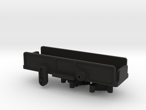 SCX24 Super Low CG Battery Tray + Shock Towers in Black Natural Versatile Plastic
