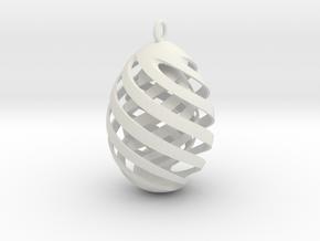 Easteregg 2 in White Natural Versatile Plastic