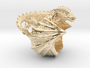 Ring dragon in 14k Gold Plated Brass: 9 / 59