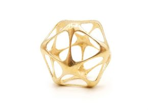 Icosahedron Pendant - Platonic Solids in Natural Brass