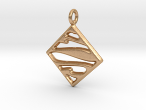 Mosaic Pendant - Keychain in Natural Bronze