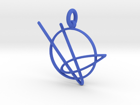 Comet Keychain in Blue Processed Versatile Plastic