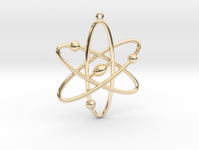 Atom Keychain or Pendant in 14K Yellow Gold