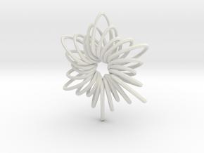 RingStar Twist 6 Points - 5cm in White Natural Versatile Plastic