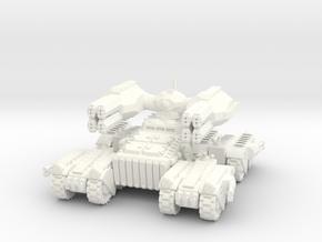 6mm - BFT (Big F**king Tank) Assault Behemoth  in White Processed Versatile Plastic
