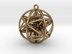 God Ball (14 Dorje Object) in Polished Gold Steel