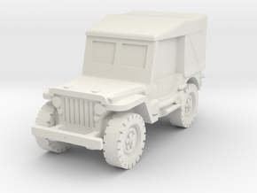 Jeep Willys closed 1/72 in White Natural Versatile Plastic
