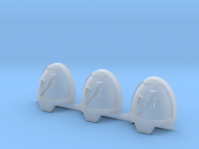 Lightning Warriors Gravus Shoulder Pads x3 L in Smooth Fine Detail Plastic