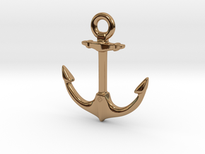 Anchor of Hope  in Polished Brass