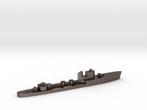 Italian Aretusa torpedo boat 1:1800 WW2 in Polished Bronzed-Silver Steel