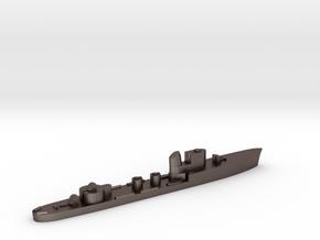 Italian Aretusa torpedo boat 1:3000 WW2 in Polished Bronzed-Silver Steel
