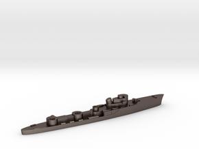 Italian Groppo torpedo boat 1:3000 WW2 in Polished Bronzed-Silver Steel
