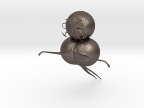 CARTOONCHARTER1 in Polished Bronzed Silver Steel