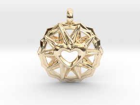 Love Star in 14k Gold Plated Brass