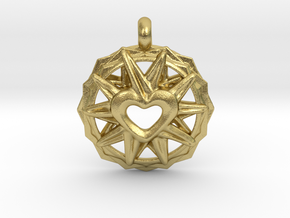 Love Star in Natural Brass