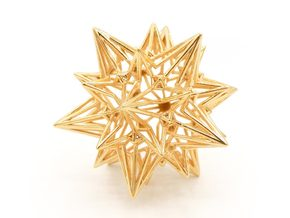 Divine Love Star - Meditation Tool in 18k Gold Plated Brass