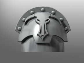 Honoris pattern shoulder pads: Daedalus Beasts in Smooth Fine Detail Plastic: Small