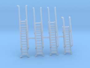 1/87 IJN Akagi Tower Stairs Set x4 in Smooth Fine Detail Plastic