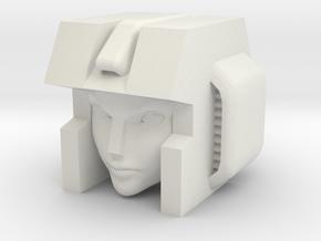 Slipstream PotP Elita Robot Head in White Natural Versatile Plastic