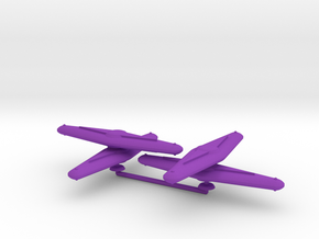 Zulu Generic Carrier Squadron in Purple Processed Versatile Plastic