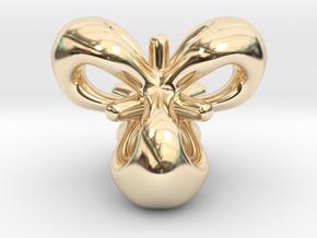 Trefoil Pendant in 14k Gold Plated Brass: Small