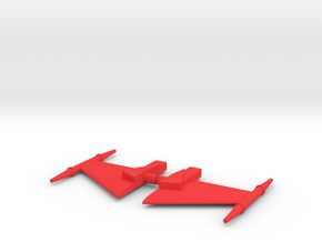Jetter 1 Wings in Red Processed Versatile Plastic