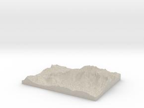 Model of Steinbergalm in Natural Sandstone