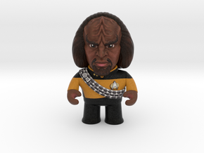 Worf Caricature in Natural Full Color Sandstone