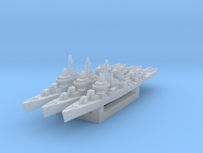 USS Kidd (Fletcher class destroyer) x3 (Axis & All in Smooth Fine Detail Plastic