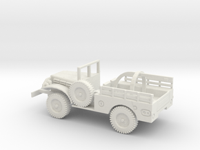 1/72 Scale Dodge WC-51 Wrecker in White Natural Versatile Plastic