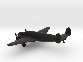 Lockheed Model 18 Lodestar in Black Natural Versatile Plastic: 1:200