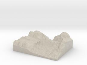 Model of Tofana di Rozes in Sandstone