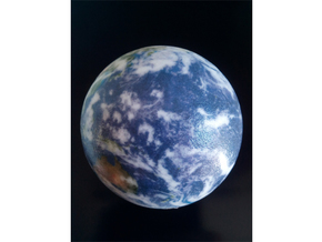 Planet Earth in Glossy Full Color Sandstone: Small
