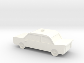 Christmas Car Ornament  in White Processed Versatile Plastic