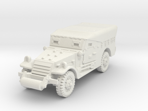 M3A1 Scoutcar early (closed) 1/100 in White Natural Versatile Plastic