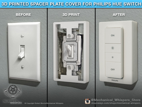 Philips Switch Toggle Plate (Set of 2 Discounted) in White Natural Versatile Plastic